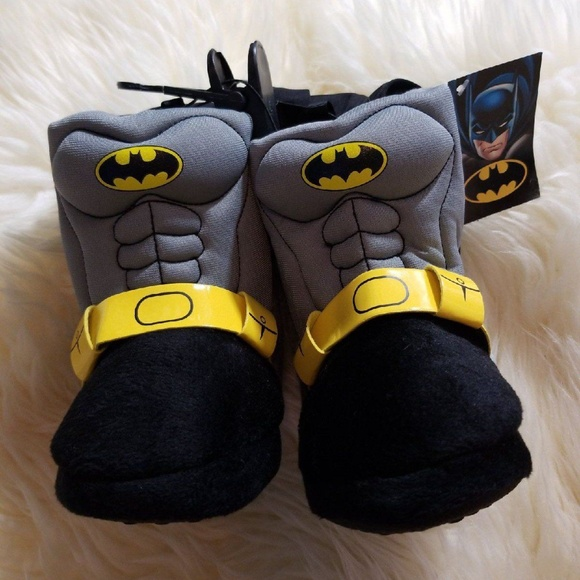 6130eb94e5730c 🌟Size Small 5 6 Batman Toddler Slippers Boots